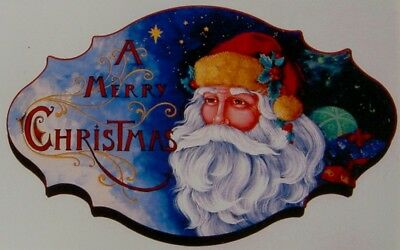 "Pipka vintage tole painting pattern ""A Merry Christmas Sign"""
