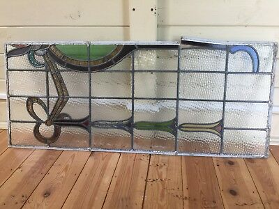 2 x Original 1930's Stained Glass Leaded Window Excellent