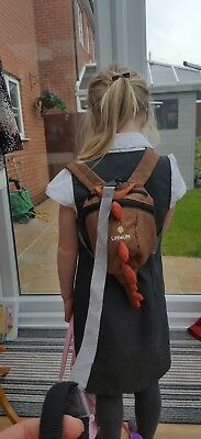 Kids Littlelife Dinosaur Backpack with Reins Dino/Boys/Toddler/Safety Reins