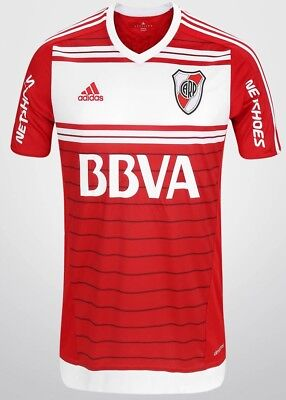 adidas Mens CARP River Plate Away Shirt Power Red/White New TAGS M 2016