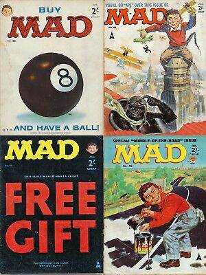 MAD Magazine - UK Issue Numbers 42, 43, 44, 45