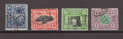 Tonga 1897 4 Pictorial Definitives Fine Used