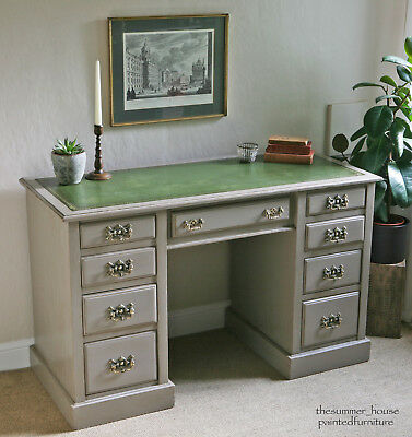 Stunning Antique Writing Desk Painted in Farrow & Ball