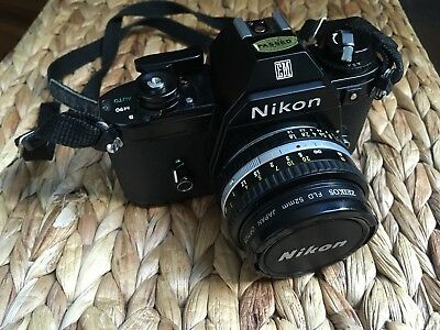 NIKON EM 35mm SLR CAMERA with Nikon Series E 50mm F/1.8 - FULLY WORKING