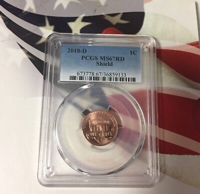 2018 D Lincoln SHIELD Cent 1c PCGS MS67RD VERY NICE COIN!!!!!!!!!!!