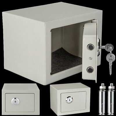"""4.6L 10*7*7"""" Fireproof Safe Security Box Key Operated Home Security Safe Storage"""