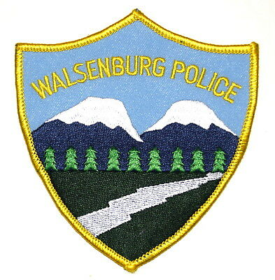 WALSENBURG COLORADO CO Sheriff Police Patch RIVER MOUNTAINS EVERGREEN TREES ~