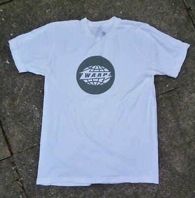 WARP RECORDS Official T-Shirt WHITE, Size: MEDIUM
