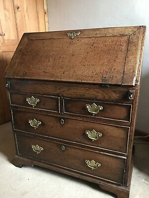 Antique Georgian Writing Bureau - Original Condition With Secret Compartment