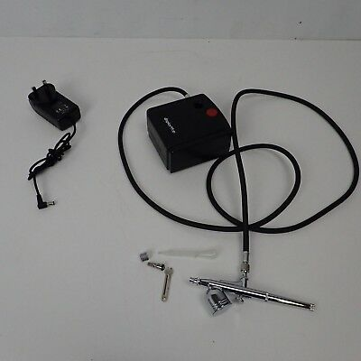 Dual Action Airbrush Portable Airbrush Gun with Mini Airbrush Air Compressor Kit