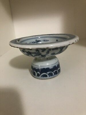 Qing Dynasty blue and white Tea tray