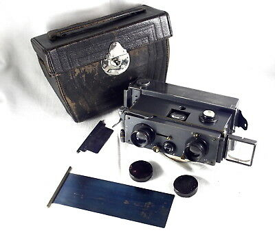 Good condition Jules Richard Verascope  45x107mm Model 4? vintage stereo camera