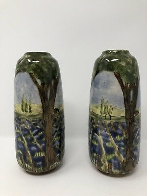 "Pair of Cobridge 7.5"" Vases by Caley Mill"
