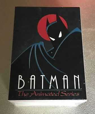 BATMAN THE ANIMATED SERIES Topps 1993 Complete Trading Card Set of 100 Cards