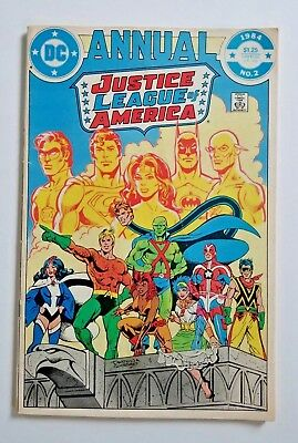 JUSTICE LEAGUE OF AMERICA ANNUAL #2 DC 1984 ~ 1st Appearance of Vibe Gypsy Steel