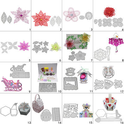 3D Box Basket DIY Cutting Dies Metal Stencil Scrapbooking Album Paper Card Art