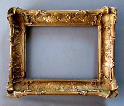 SMALL Antique ART NOUVEAU Pie Crust Style PAINTING FRAME circa 1900