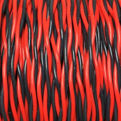 Hook Up Wire- E22-19-2~RED & BLK~22AWG 19X34 SPC PTFE .050 OD~NEW 250FT+-