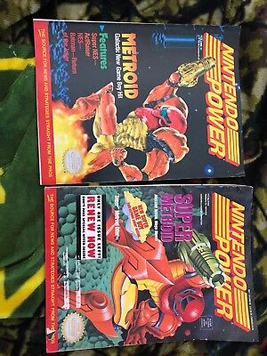 Nintendo Power Volume 31 and 60, Metroid and Super Metroid Issues W Posters