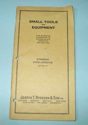 Vintage 1925 Joseph Ryerson & Son Small Tools & Equipment Catalog Buffalo Forges