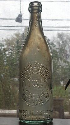 The Lion Brewing Company Baltimore Maryland Antique Beer Bottle