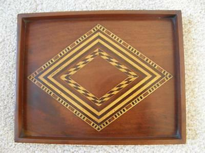 Antique Wooden Marquetry Serving Tray