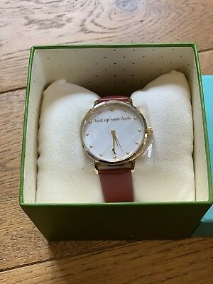 a613e5c48e02 Bn Kate Spade New York Metro Kick Up Your Heels Red Leather Watch Ksw1209  £189