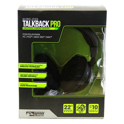 Universal Wireless Talkback Pro Gaming Headset for Xbox 360 PS3 PS2 PC MAC (KMD)