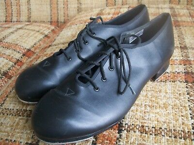 Bloch Womens 9 Black Man-made Lace-Up Tap Shoes