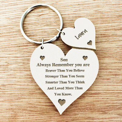 Personalised Gifts For Son Daughter Boys Niece Girls Nephew Grandson Keyring U7