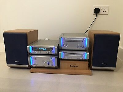 Technics SC-HD505 HiFi Stereo System Amplifier CD Cassette Tuner Speakers Remote