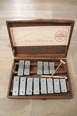 Lamy student dulcimer perfect tuning xylophone glockenspiel wooden case hammers