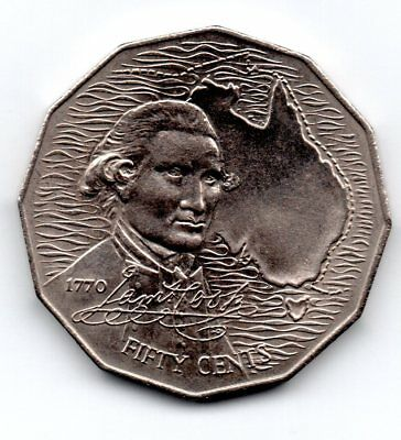 "Münze 50 Cents 1970 ""Captain Cook"" Australien"
