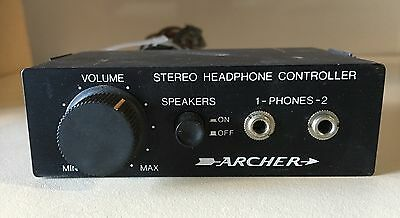 Vintage Archer Stereo Headphone Controller For Car Truck Boat RV