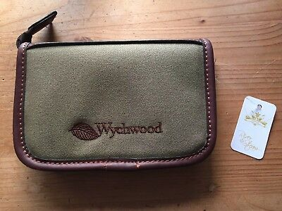 Wychwood Small Leather & Canvas Fly Wallet With Selection Of Flies