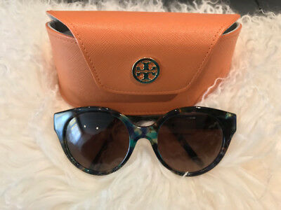 66f7682421 Tory Burch Blue Brown Tort Polarized Sunglasses - TY7087
