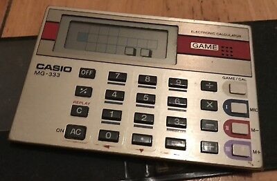 Vintage Casio MG-333 Electronic Calculator Game