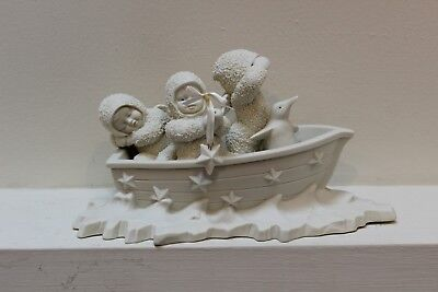Dept 56 Snowbabies Snowbaby 1992 WINKEN BLINKEN & NOD In Boat 68144 Retired 1998