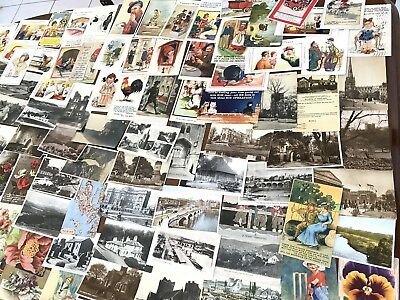 Large lot of mixed old postcards