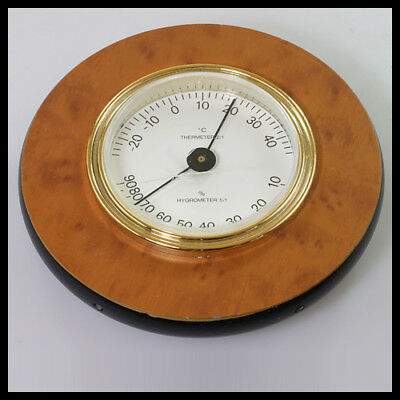 old vintage Germany Wooden Thermometer Hygrometer Weather Station
