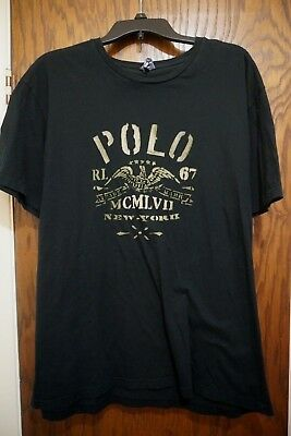 Vintage Polo Ralph Lauren Eagle Shirt Men 1967 New York MCMLVII Large