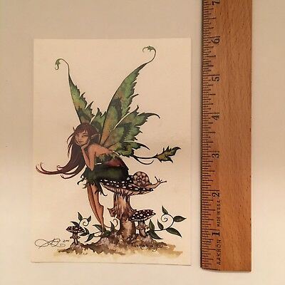 Amy Brown Collectible Fantasy Fairy Thinking of You... Postcard