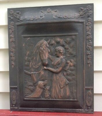Vintage Victorian Metal Fireplace Screen/cover