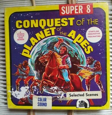 Super 8 Movie Reel CONQUEST of the PLANET of the APES Ken Films 8mm EC