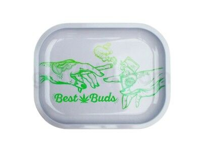 Smoke Arsenal BEST BUDS Cigarette Tobacco Metal Small Rolling Tray 7x5 420