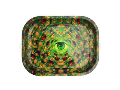 Smoke Arsenal HIGHCADELIC TRIPPY Cigarette Tobacco Metal Small Rolling Tray 7x5