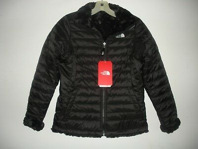 The North Face Girls Reversible Mossbud Swirl Jacket-Cn01-S,m,l,xl -Black /black