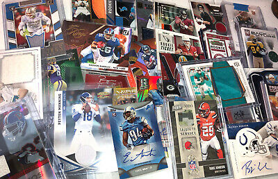 Football 10-15 Card Hot Pack $50 of Book Value! Auto Relics Patch Star Hits SPs