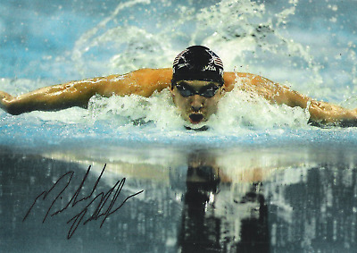 Michael Phelps  (USA)  8 x10 Reprint Signed Photo.