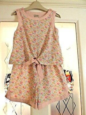 NEXT Girls Pretty Summer Pink Floral Berry Shorts/ Playsuit Age 4 years